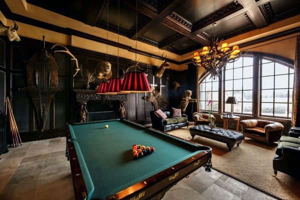 Billiards Room Interior Ideas