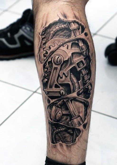 Bio-Mechanical Tattoos For Men