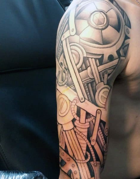 Biomechanical Tattoo For Men