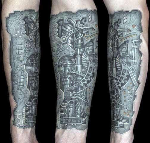 Bionic Men's Tattoo