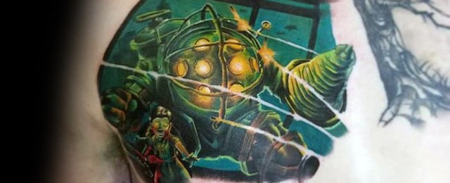 Bioshock Tattoo Designs For Men