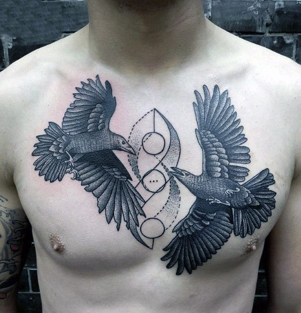Bird Chest Tattoo