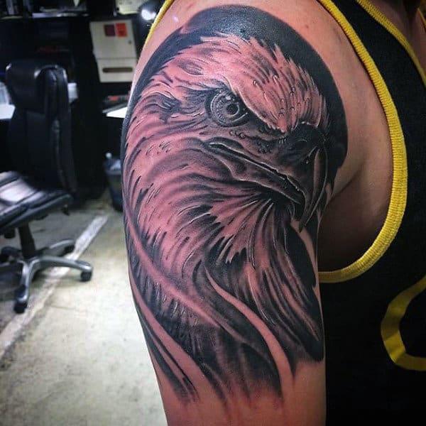 Bird Tattoos Men Half Sleeve