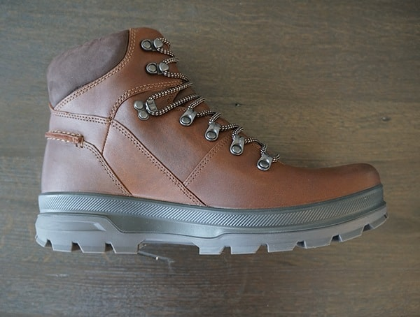 Bison Mocha Ecco Rugged Track Gtx Hi Boots Side