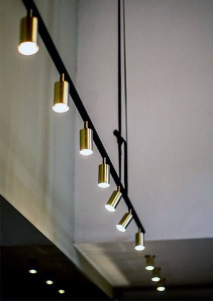 Black And Brass Designs Track Lighting