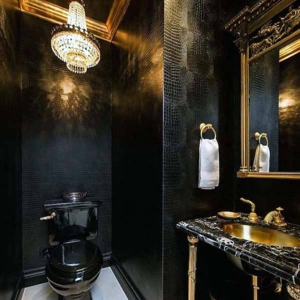 Black And Gold Bathroom Ideas