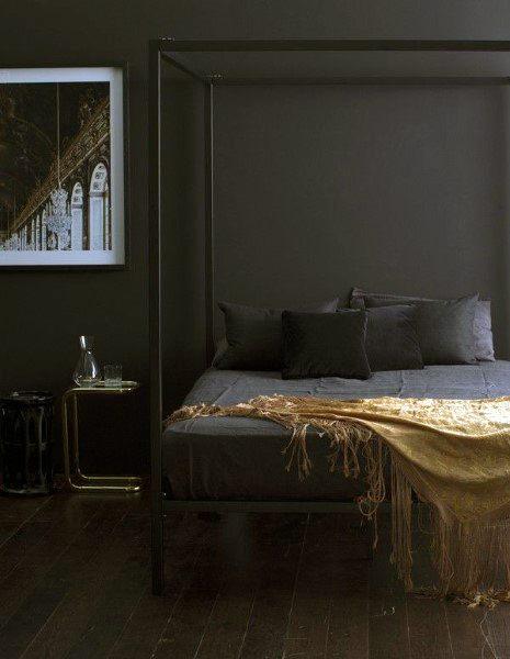 Black And Gold Bedroom Design Ideas