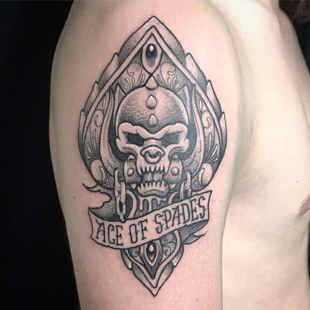 Black And Grey Ace Of Spades Tattoo Herrerotattoo