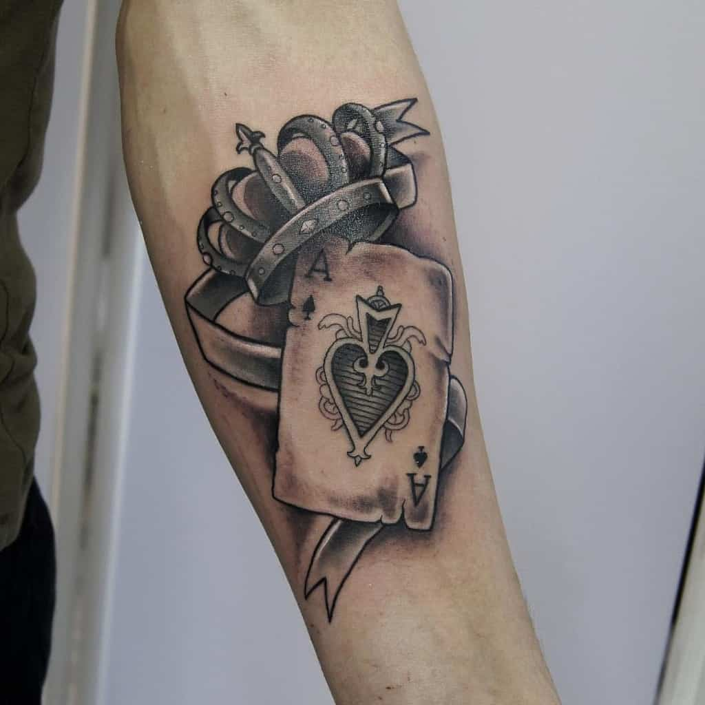 Black And Grey Ace Of Spades Tattoo Moonchildvisualart