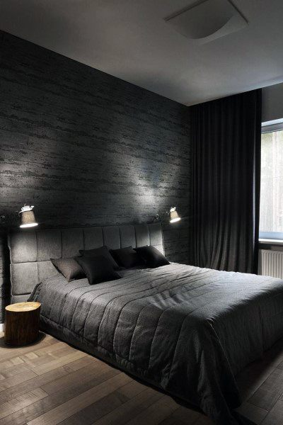 dark bedroom curtain ideas