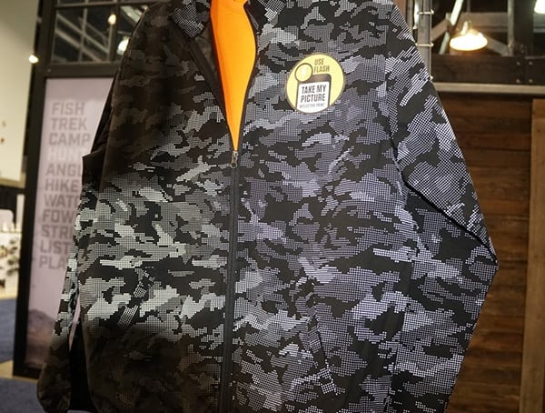 Black And Grey Camo Flash Reactive Mens Winter Jacket