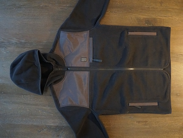 Black And Grey Front Topo Designs Fleece Hoodie For Men