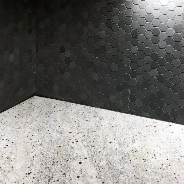 Black And Grey Hexagon Mini Kitchen Backsplash Pattern Ideas