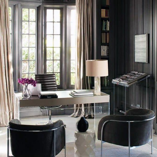 Attirant Black And Grey Modern Home Office