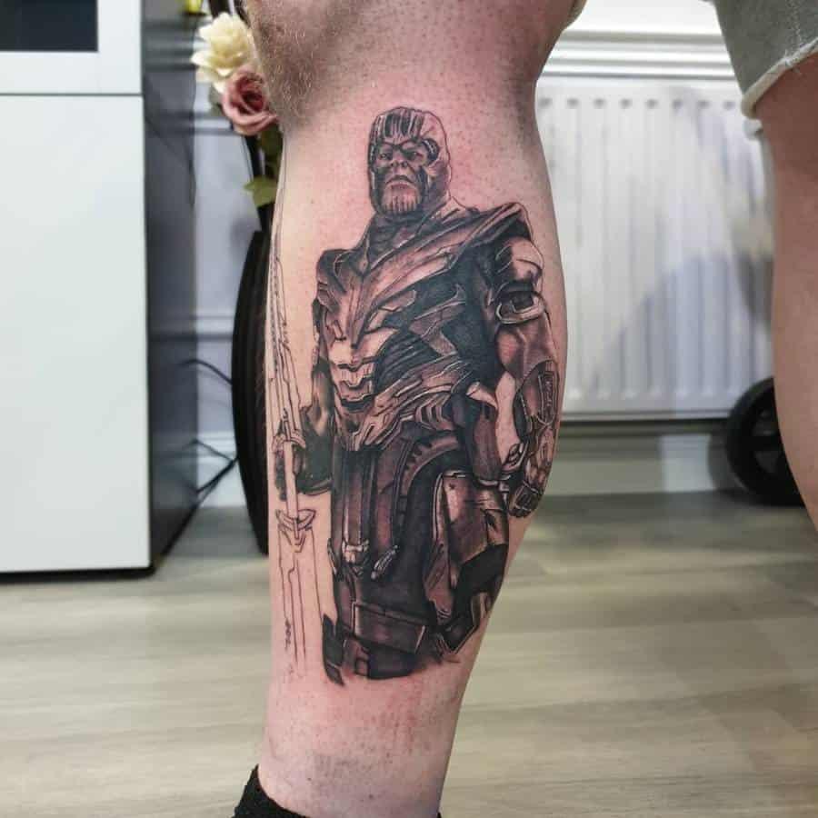 Black And Grey Thanos Tattoo Martypee Tattoos