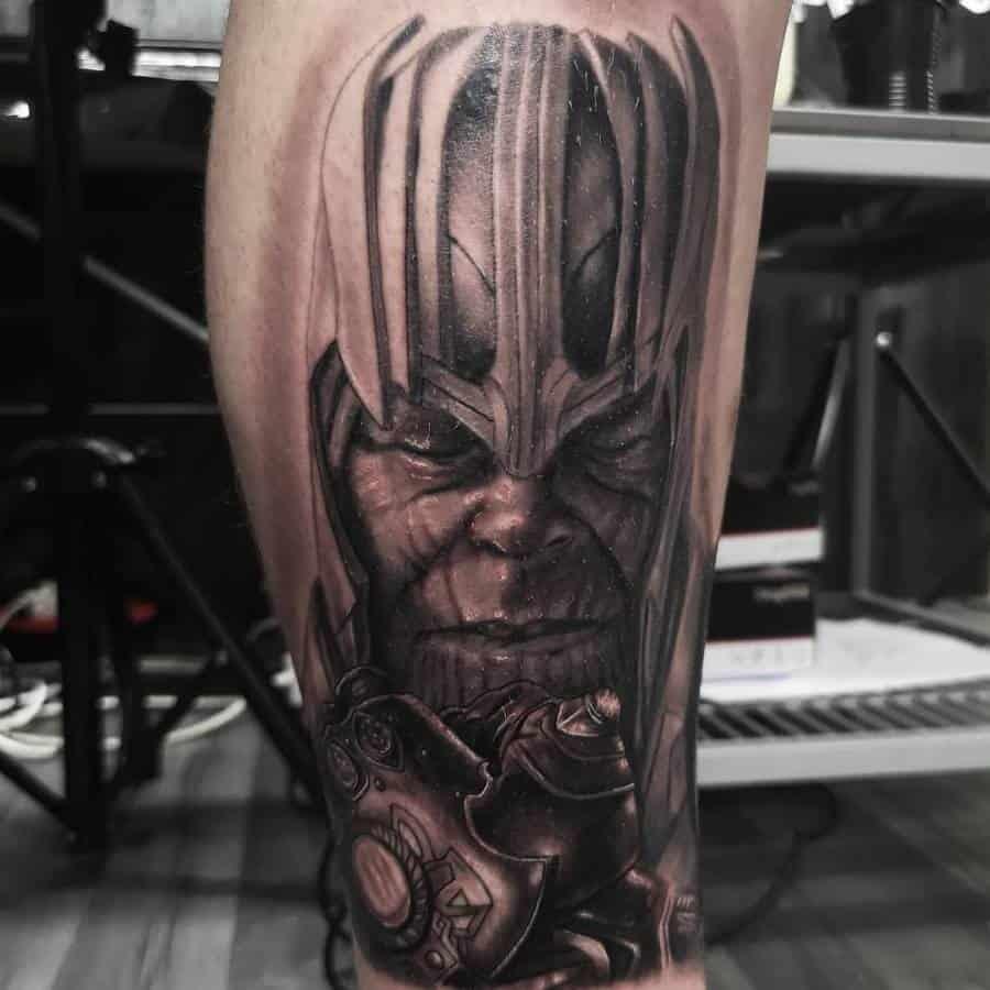 Black And Grey Thanos Tattoo Milotay Tattoos