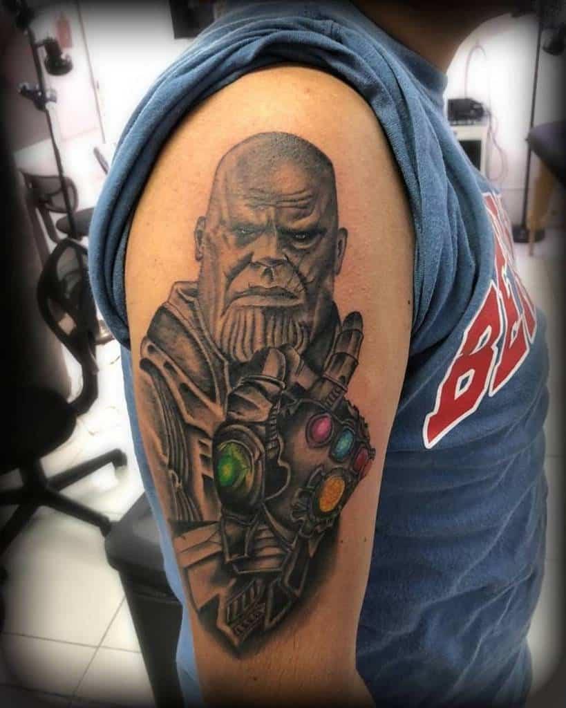 Black And Grey Thanos Tattoo Rastatuille.cr