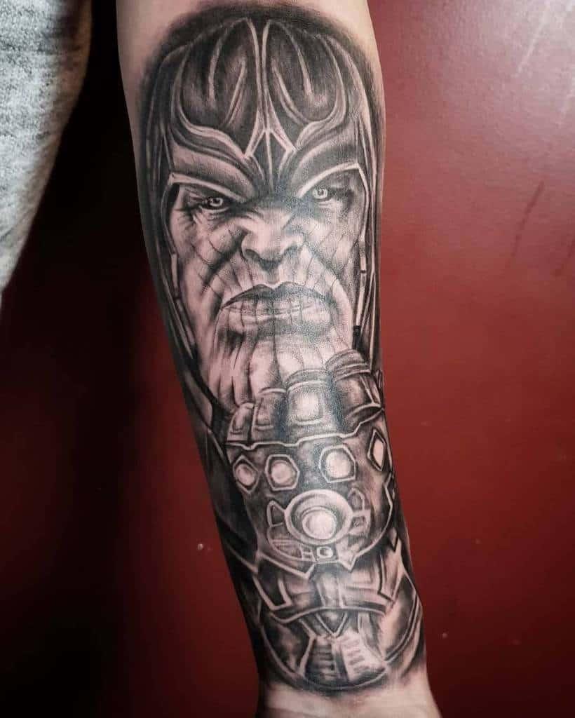 Black And Grey Thanos Tattoo Redroom.tattoo
