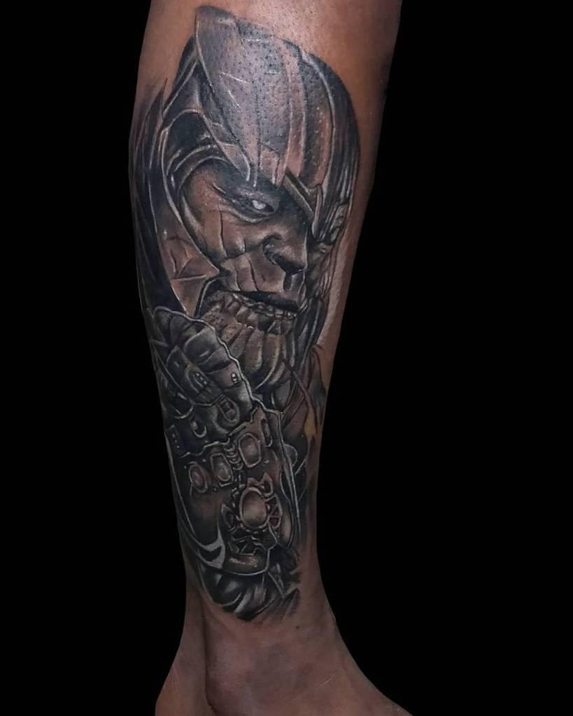 Black And Grey Thanos Tattoo Ryand.balaati Tattoist