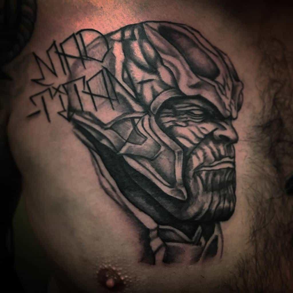 Black And Grey Thanos Tattoo Tattooicon