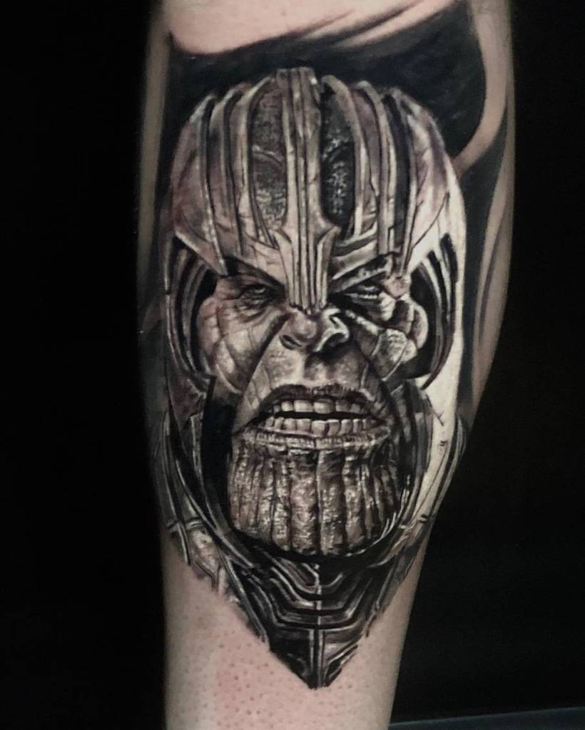 Black And Grey Thanos Tattoo Tuttattoos