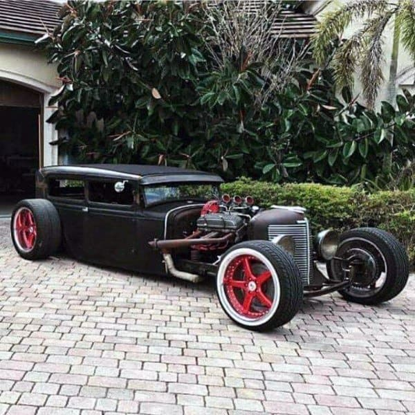 Black And Red Badass Rat Rods