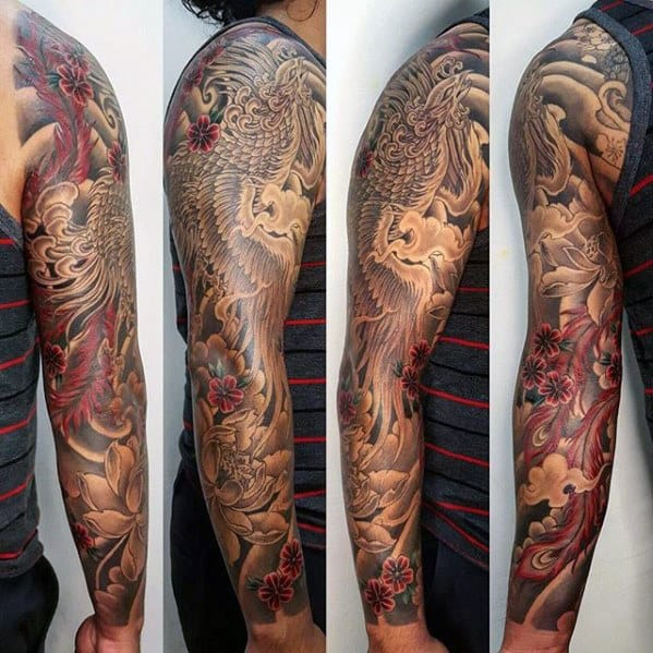 50 Japanese Phoenix Tattoo Designs For Men - Mythical Ink ...