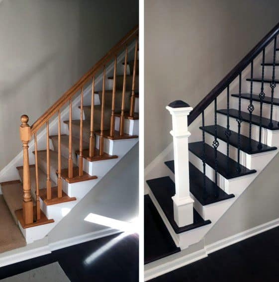 Grey Panelling Under Stairs: Top 70 Best Painted Stairs Ideas
