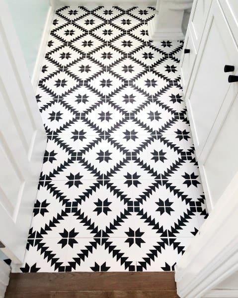 Black And White Bathroom Design Ideas Painted Floor