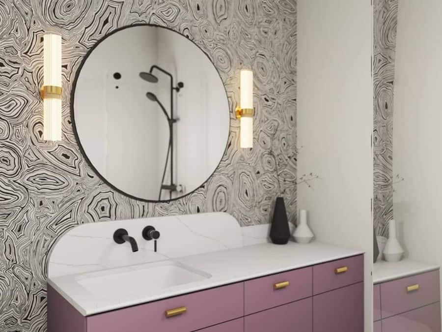 Black And White Bathroom Wallpaper Ideas Maszroom Design