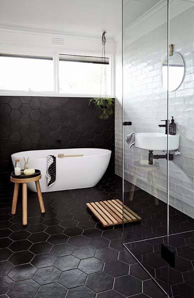 black and white bathroom color ideas