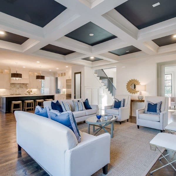Black And White Coffered Ceiling Ideas