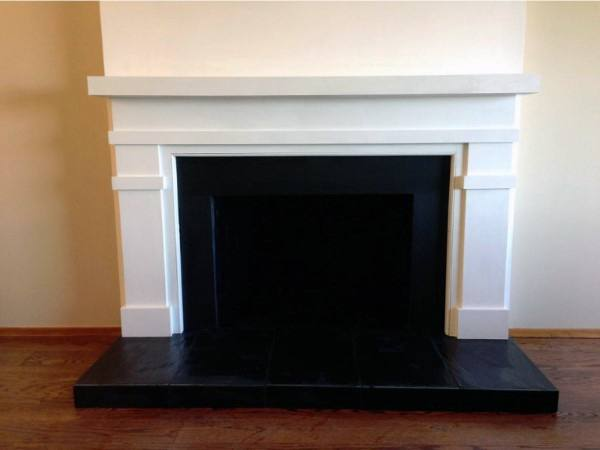 Black And White Fireplace Mantel Design
