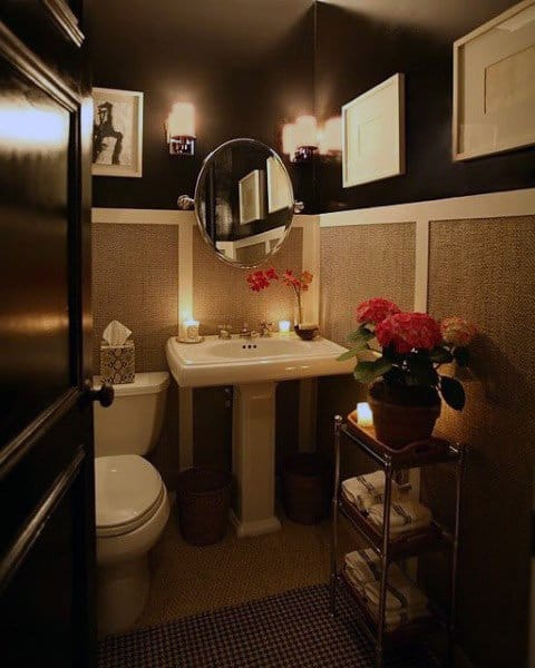 Black And White Half Bath Ideas
