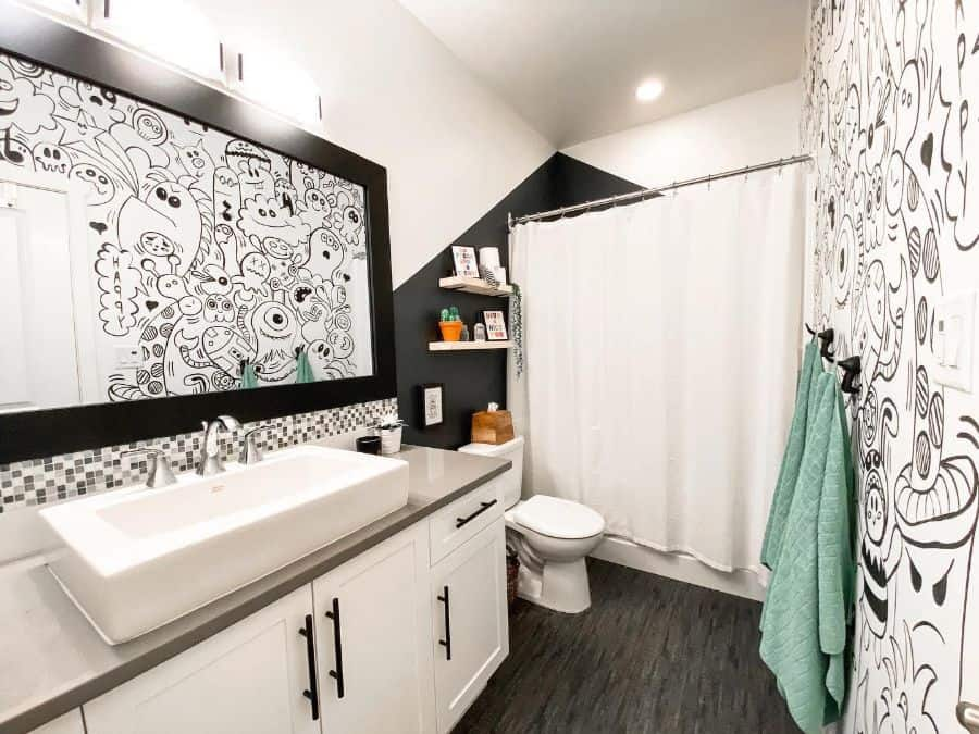 Black And White Kids Bathroom Ideas Jdesigns.interiors
