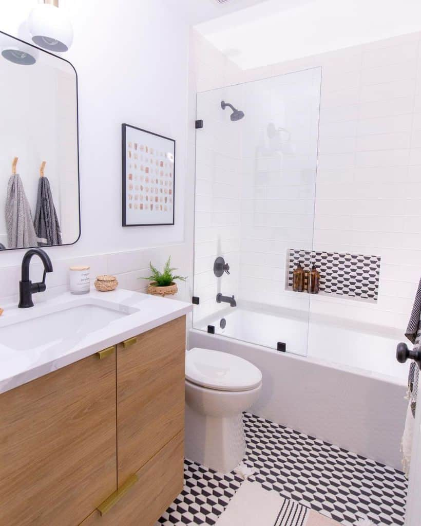 Black And White Kids Bathroom Ideas Onehousewonder