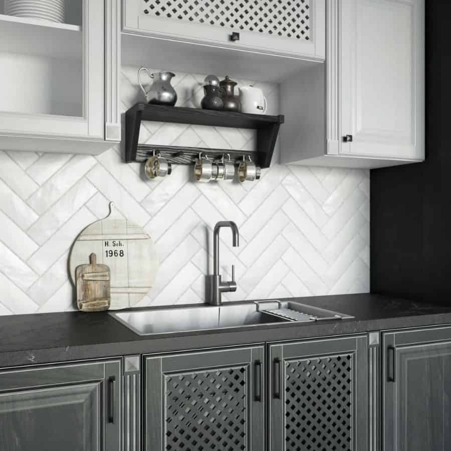 Black And White Kitchen Cabinets Miami.render