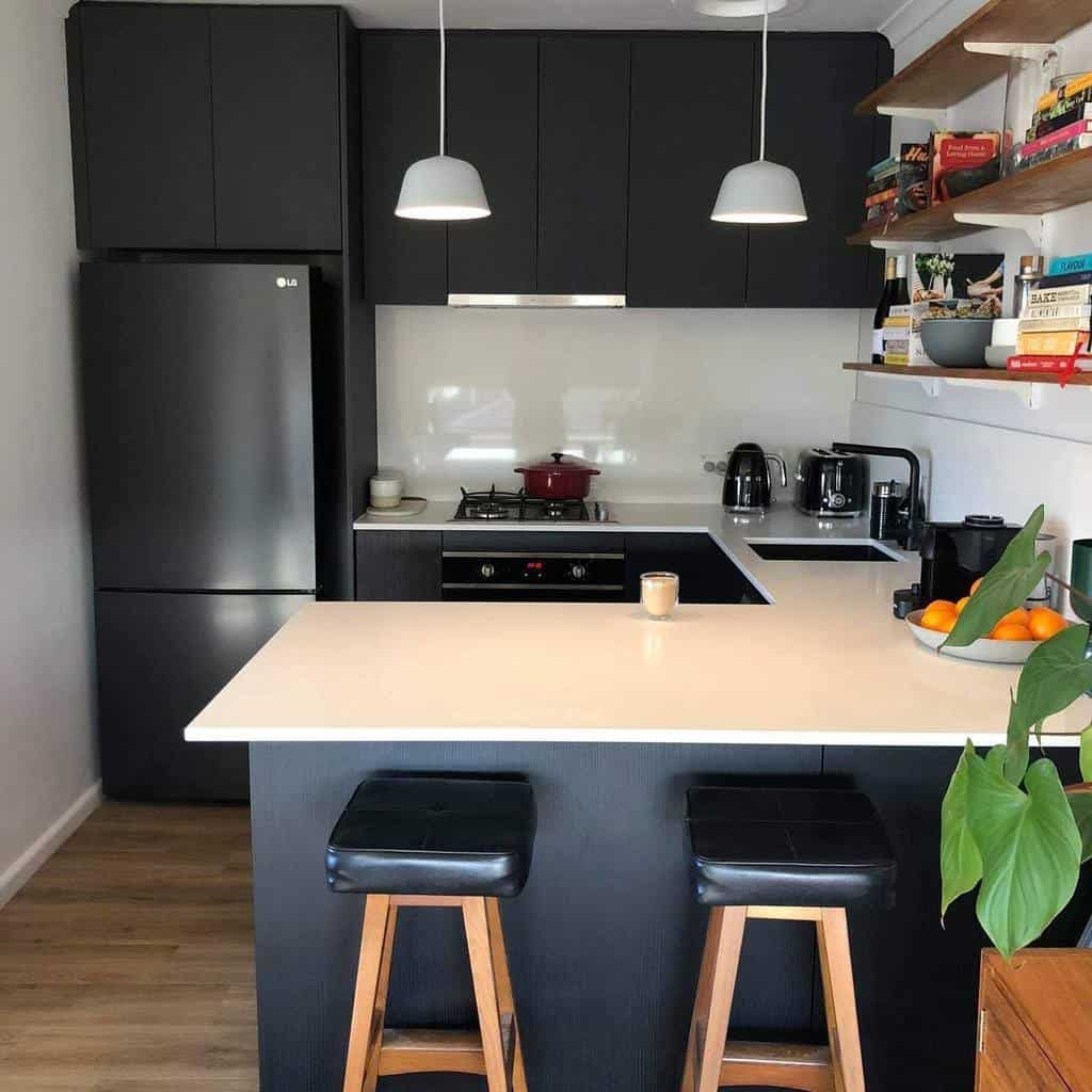 black and white kitchen color ideas mrcabinets