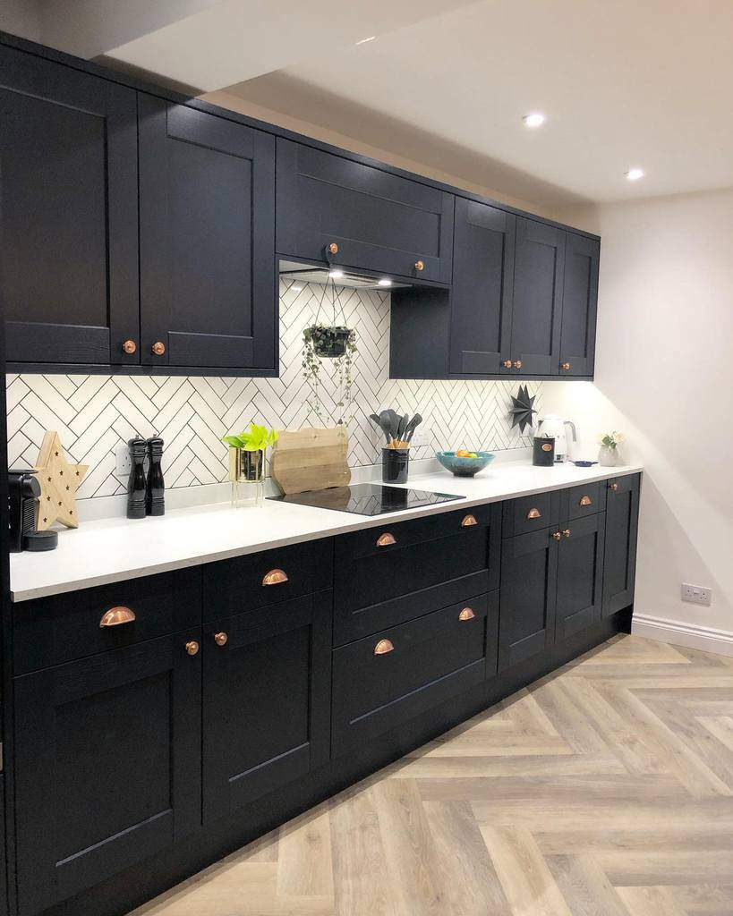 black and white kitchen color ideas renovating_twin_trees