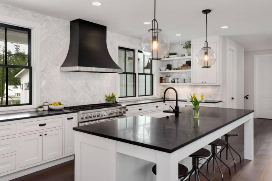 Black And White Modern Farmhouse Kitchen