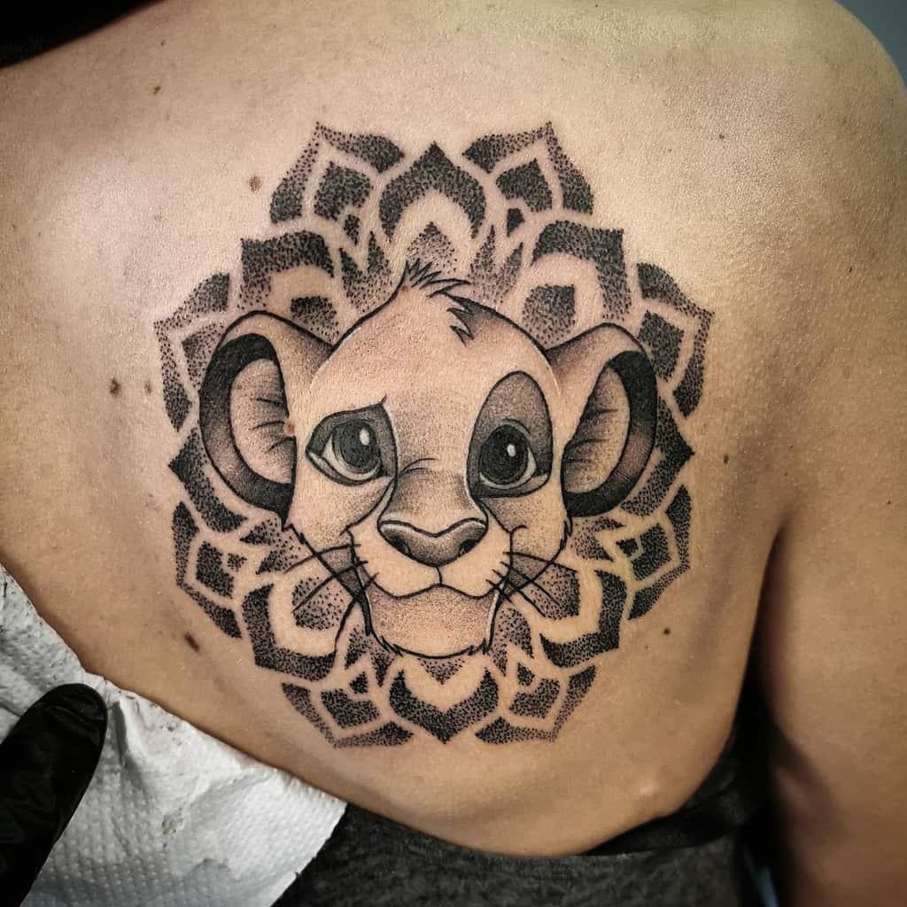 Black And White Simba Tattoo Danieloru.tattooart