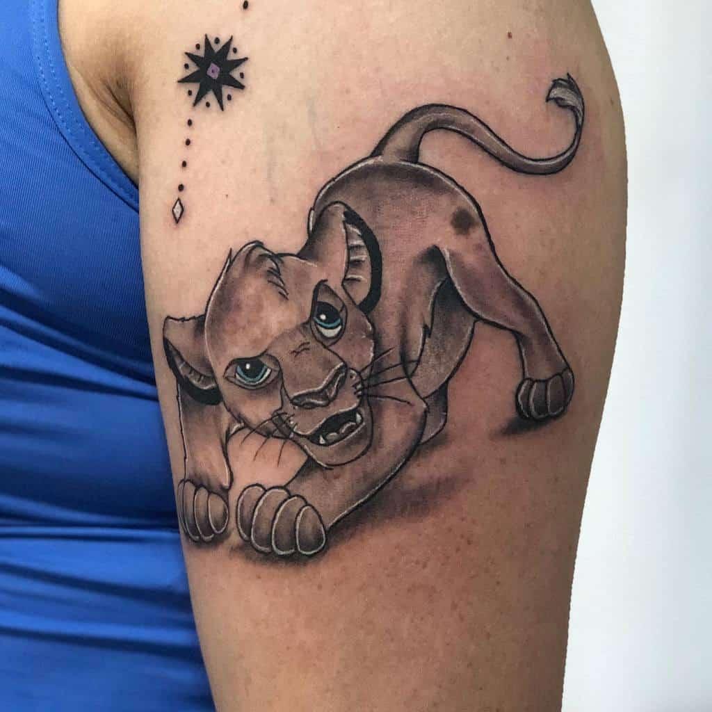 Black And White Simba Tattoo Renetattoo81