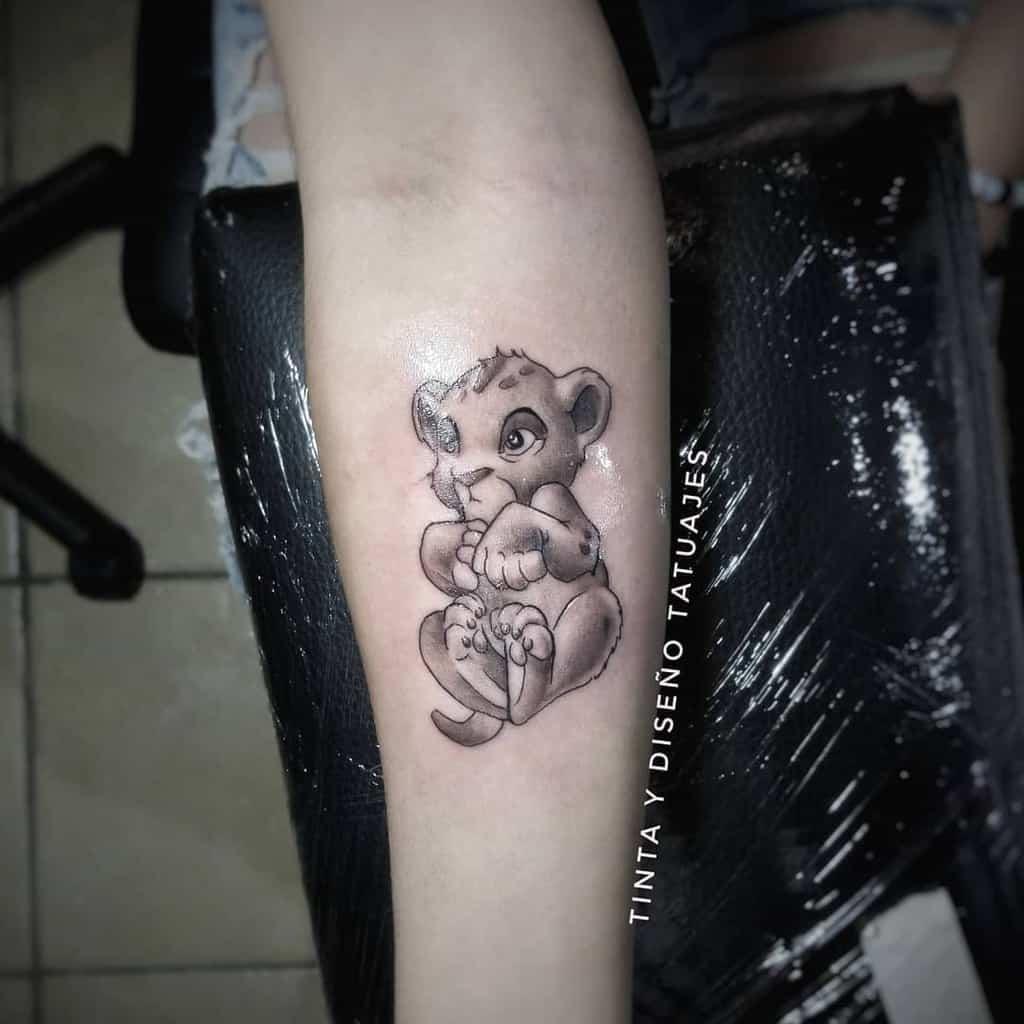 Black And White Simba Tattoo Tavo Tyd
