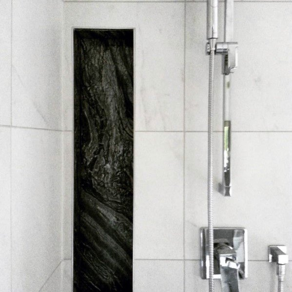 Black And White Tile Shower Niche Ideas