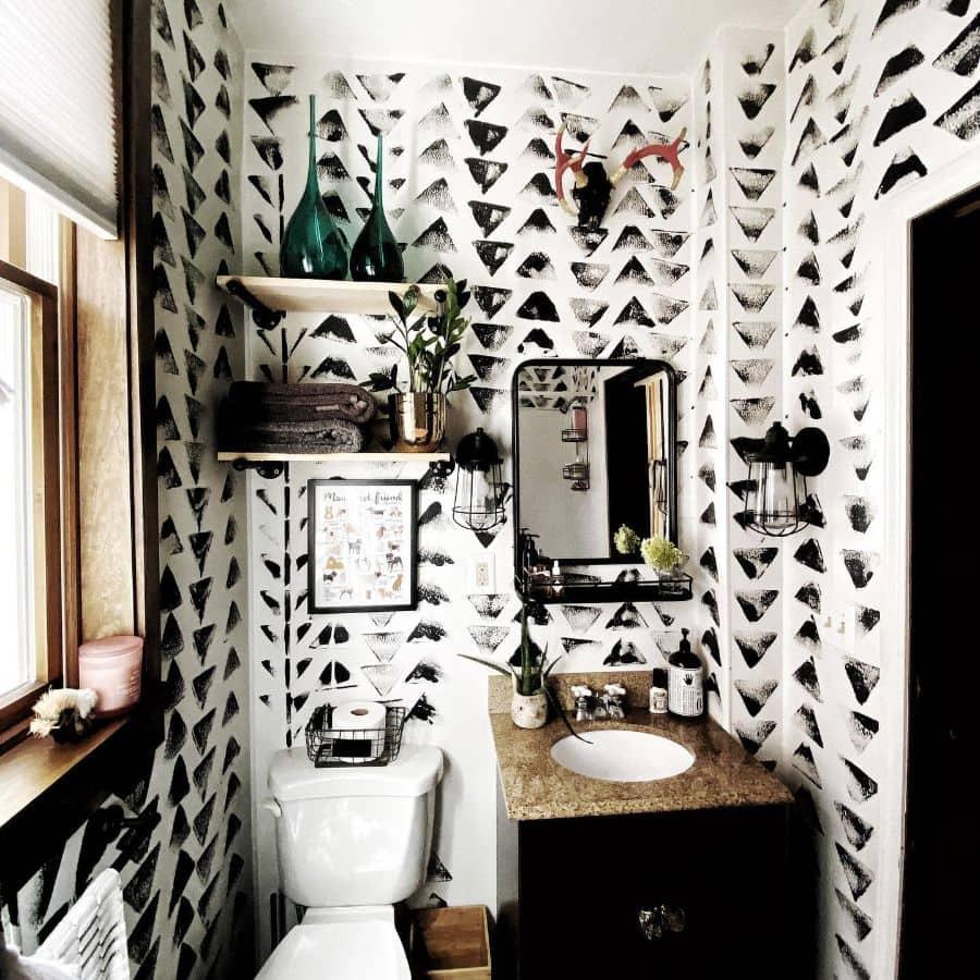 Black And White Tiny Bathroom Ideas Kvyainc