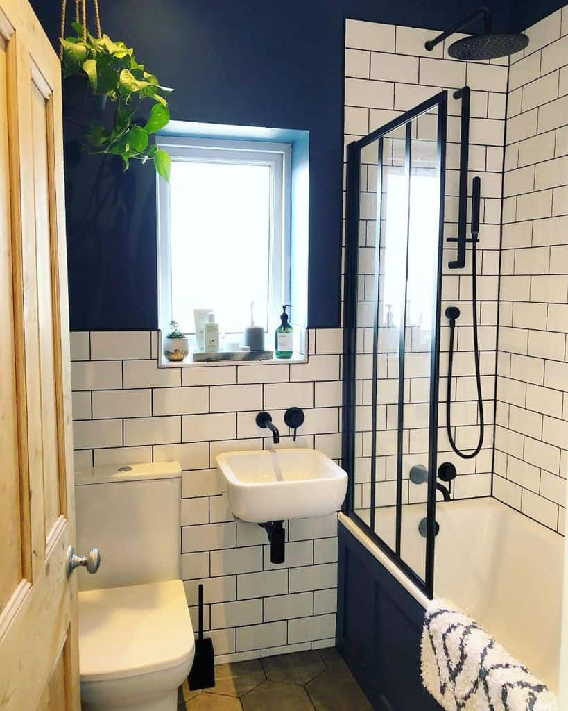 Black And White Tiny Bathroom Ideas Little Edwardian Semi