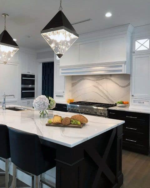 Black And White Two Color Kitchen Cabinet Ideas