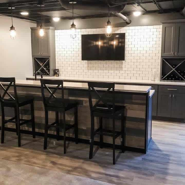 Black And White Unfinished Basement Ideas