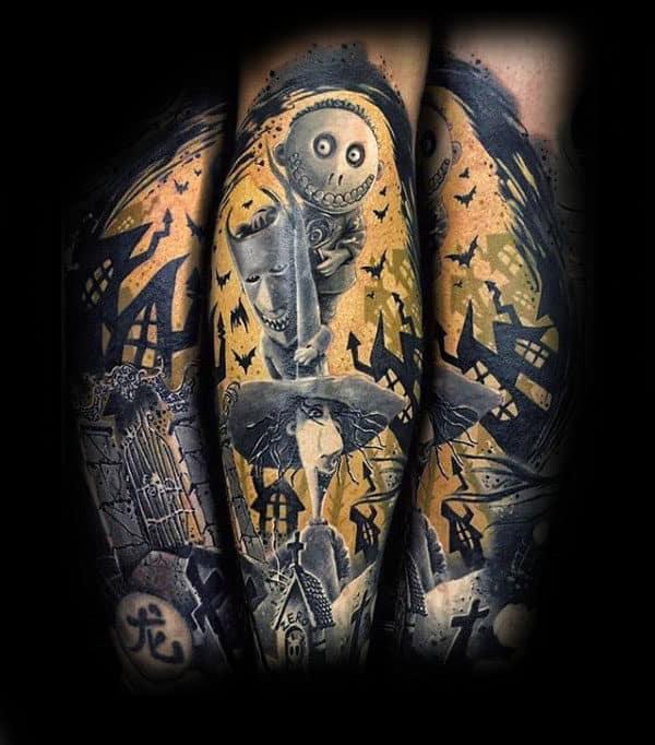 100 Nightmare Before Christmas Tattoos For Men - Design Ideas
