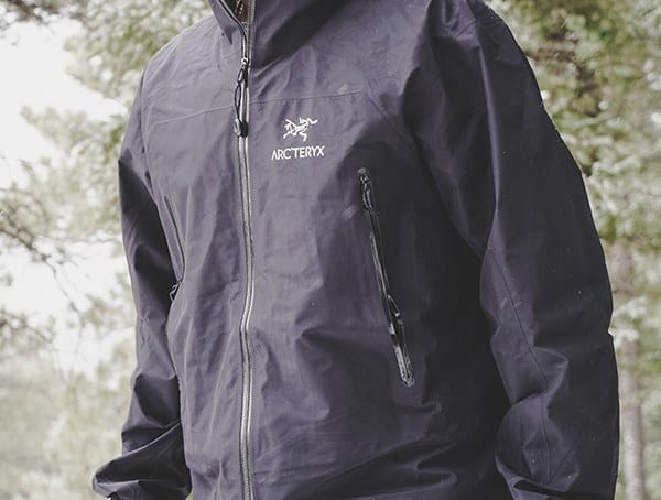 Black Arcteryx Zeta Lt Mens Waterproof Jacket Review